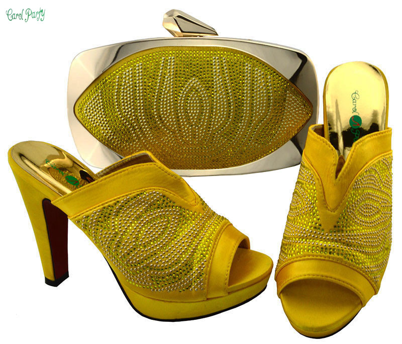 New Arrival  African Women Matching Italian Shoe and Bag Set Decorated with Appliques Nigerian Shoes and Bag BCH-27 african wedding shoes and bag sets women pumps decorated with diamonds italian matching shoe and bag mm1014