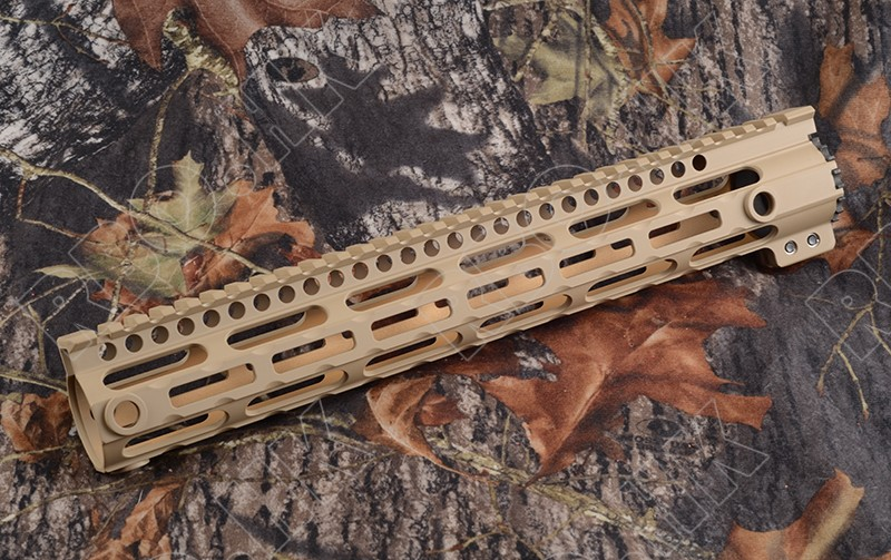 Picatinny weaver AR 15 rail system for 7075 Aluminum alloy 12.5 inch length and qd gun sling swivels adapter Tan M3290 ak 47 tactical quad rail picatinny handguard system cnc aluminum full length tactical for ak rifles 26cm hunting gun accessories