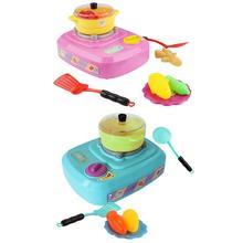 23 шт. электрическая имитация многофункциональная газовая плита свет звон туман игрушки кухонный набор для детей