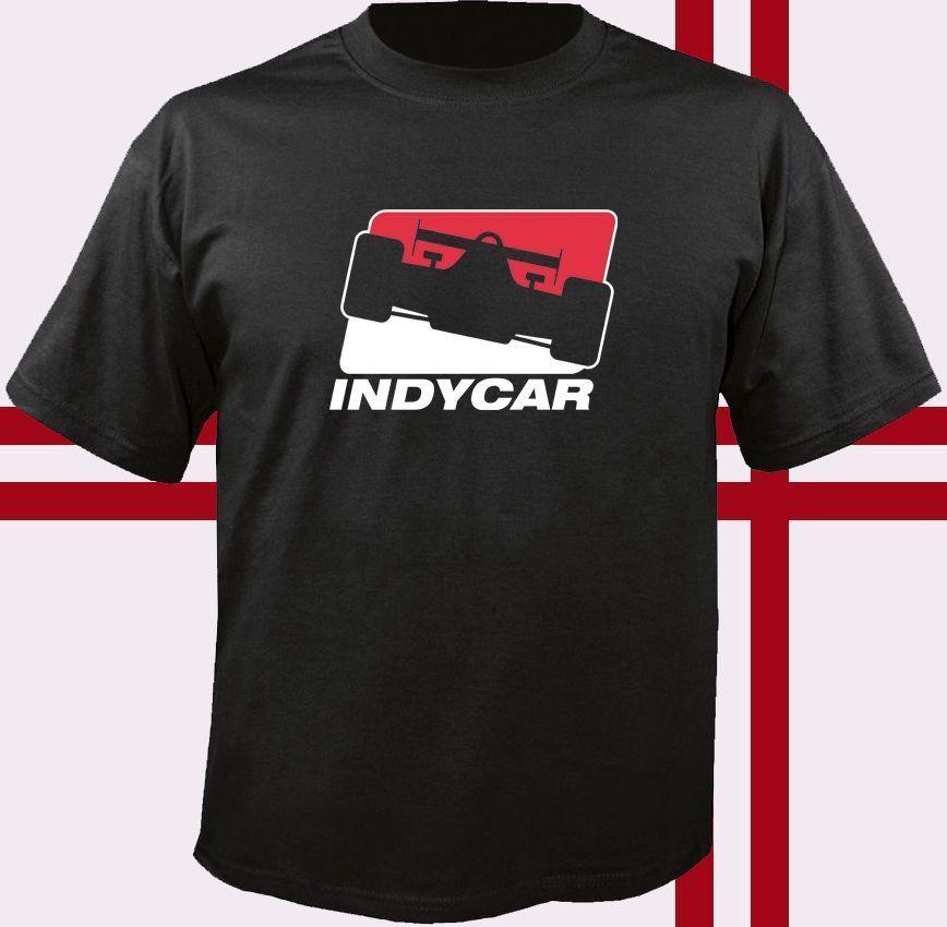 INDY CAR Racinger Logo T-Shirt Printed T Shirt Summer MenS Top Tee Brand Clothes Summer 2018 Hot Selling 100 % Cotton