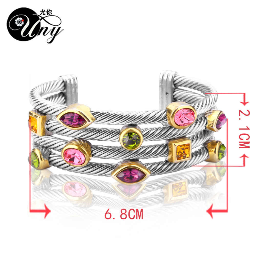 c62d4fe2168 ... UNY Bracelet Multi Twisted Cable Wire Bangle Vintage Fashion Bangles  Free Ship Unique Designer Brand Christmas
