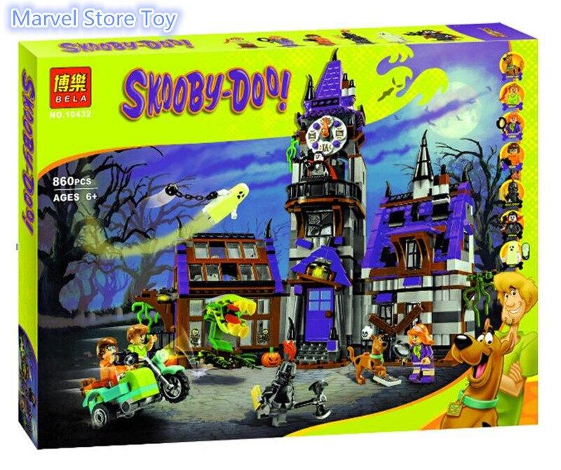 Bela 10432 10431 Scooby Doo Mysterious Ghost House Minifigures Building Block Minifigure Toys KKKK