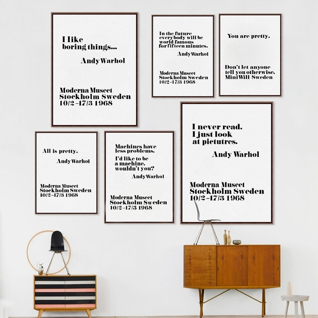 Andy Warhol Pop Art Quotes: Andy Warhol Pop Art Posters Minimalist Life Canvas