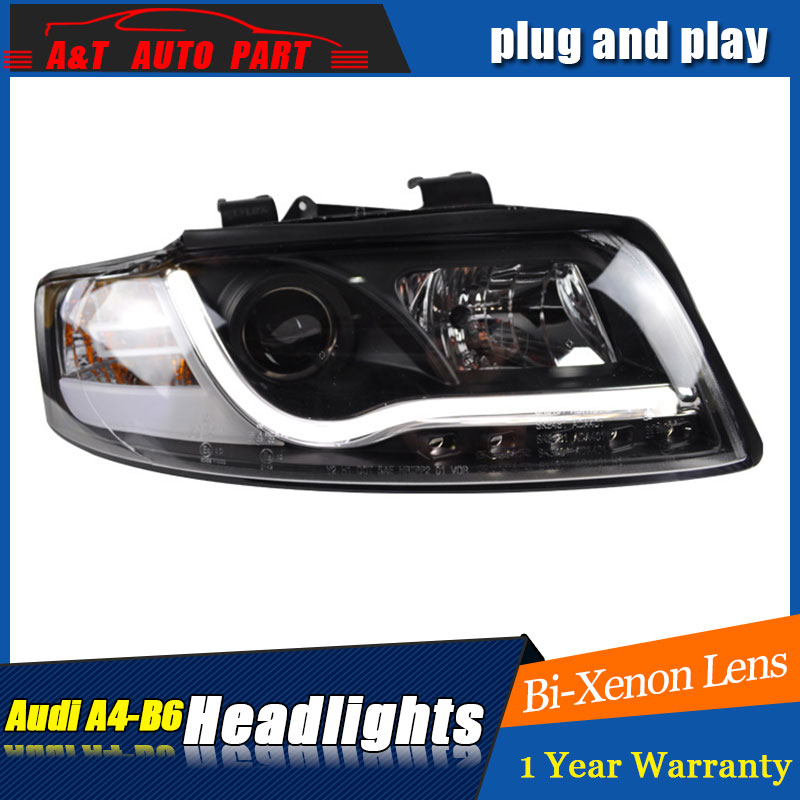 Auto Lighting Style LED Head Lamp for AU DI A4 B6 headlights for A4 B6 LED angle eyes drl H7 hid  Bi-Xenon Lens low beam auto part style led head lamp for benz w163 ml320 ml280 ml350 ml430 2002 2005 led headlights drl hid bi xenon lens low beam