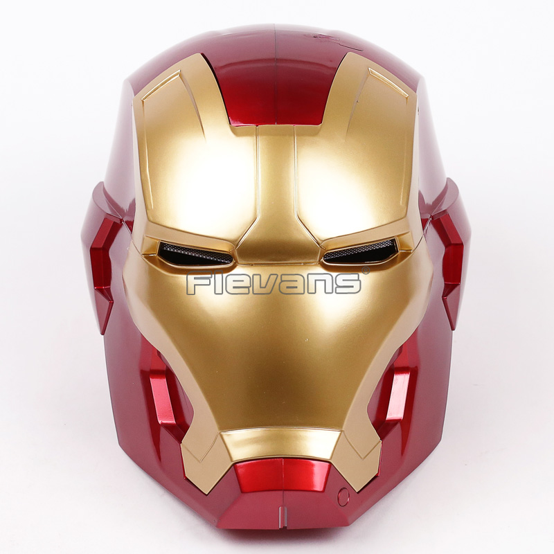 Iron Man Helmet Cosplay Mask for Adult Touch Sensing 1:1 Mask with LED Light Collectible Figure Model Toy 2 Colors free shipping iron man motorcycle helmet mask tony stark mark 7 cosplay mask with led light