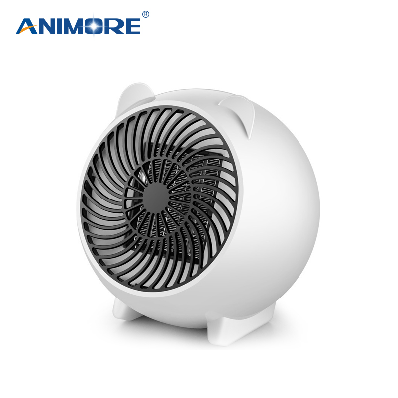 ANIMORE Mini Fan Heater Electric Heater 250W Desktop Heater EU/US Plug 3 Second Fast Heat PTC Heating Mini Electric Heater Fan цена