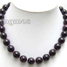 High-Quality Beads Necklace-Nec5540 Natural Wholesale/retail Big 13mm 17-Round Garnet