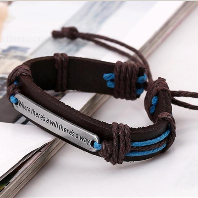 947c0b0aaeb5 Nueva pulsera de encanto Vintage Punk DIY pulseras de cuero hechas a mano  hombre joyería Tribal