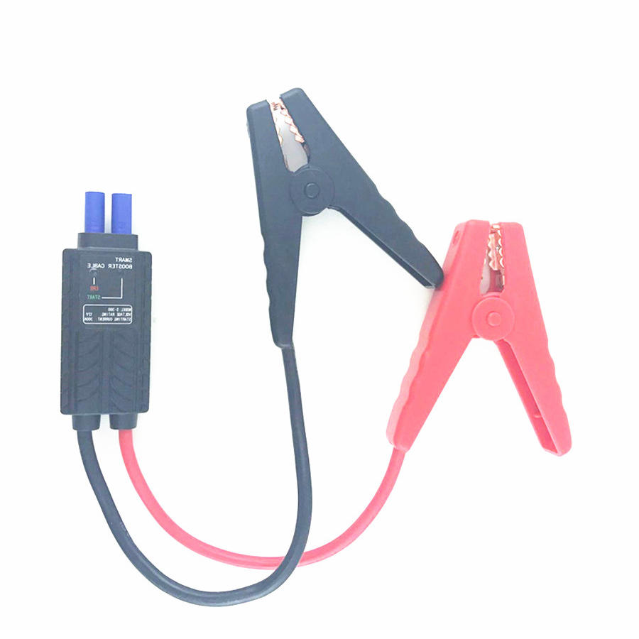 Universal 12V Smart LED Lead Cable Battery Alligator Clamp Clip Emergency Indicator For Car Jump <font><b>Starter</b></font> Short-Circuit Protectio