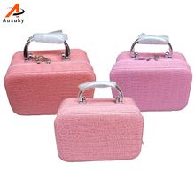 Ausuky Women Beauticians Cosmetic Cases Travel Handbags Pu Leather Organizer Makeup Bag Wash Bags Make Up Cosmetic Case 45