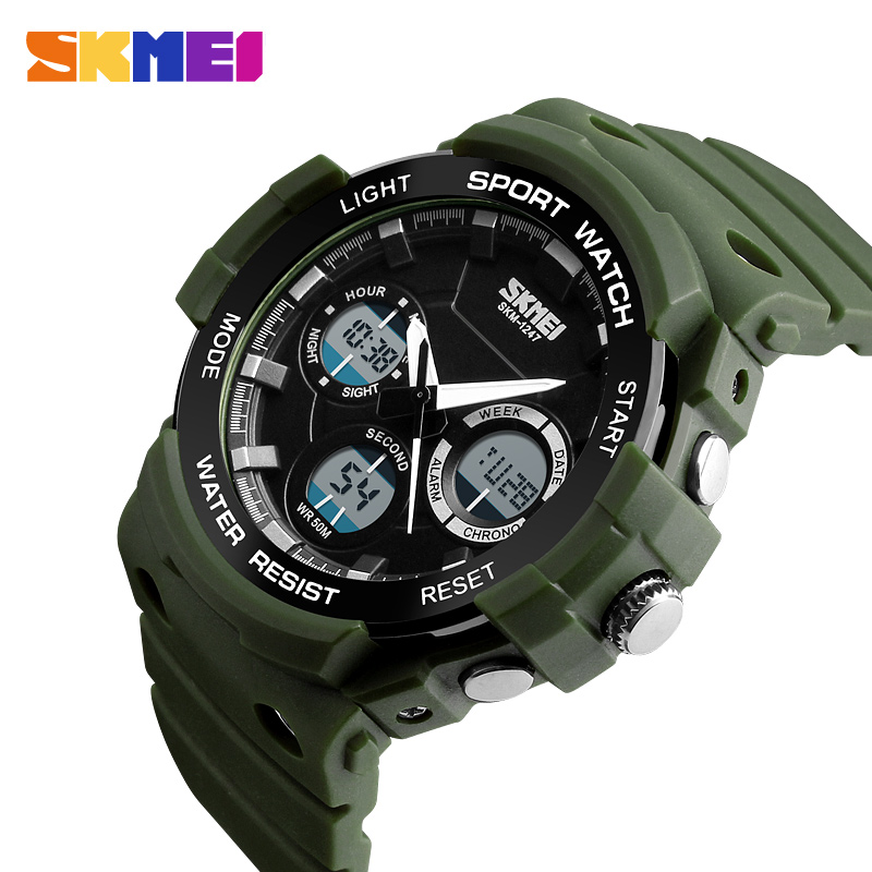 SKMEI Outdoor Sports Watches Men Chronograph Alarm Clock Water Resistant Fashion Dual Time Wristwatches Relogio Masculino