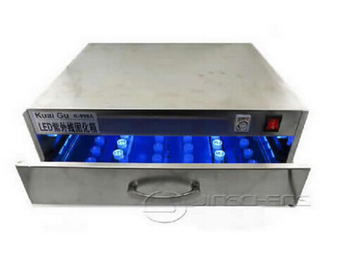 Drawer type UV curing box oven machine with LED lamp 84W for LCD refurbishment of mobile phones ...