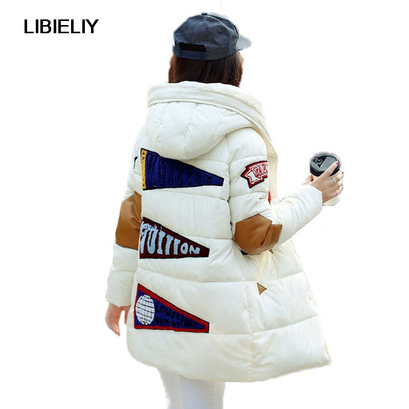 New Plus Size Winter Women Cotton Jacket Long Thick   Parkas   Female Hooded Cotton Padded Fashion Warm Coat Outerwear