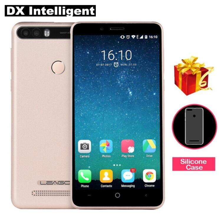 LEAGOO KIICAA мощность 4000 мАч смартфон 5,0 дюймов mtk6580a четыре ядра 8MP двойная задняя камера отпечатков пальцев 2 ГБ + 16 ГБ Android 7,0 3g FM OTG