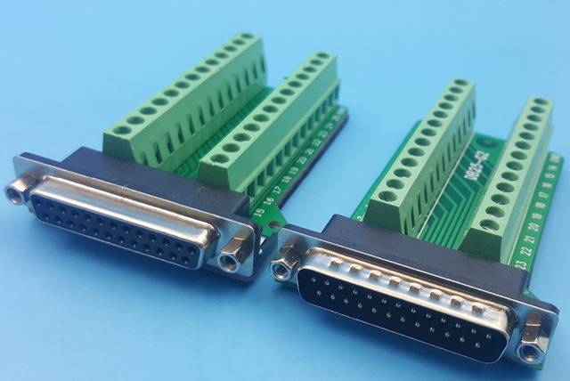 free shipping 1pair d sub db25 plug 25pin breakout to pcb board rh aliexpress com Simplest Electronic Circuit Boards Cableing Circuit Board