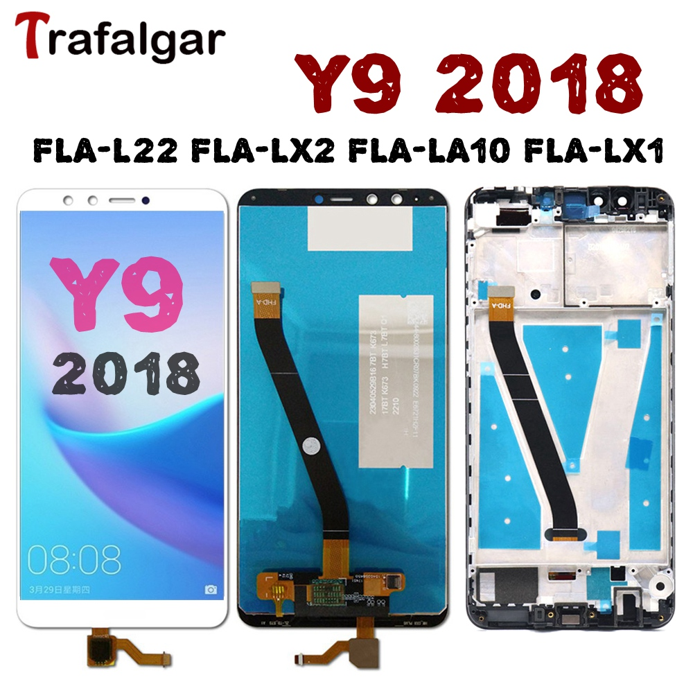 For Huawei Y9 2018 LCD Display Touch Screen Digitizer Assembly FLA L22 LX2 LX1 LX3 For Huawei Y9 2018 LCD With Frame Replacement-in Mobile Phone LCD Screens from Cellphones & Telecommunications on