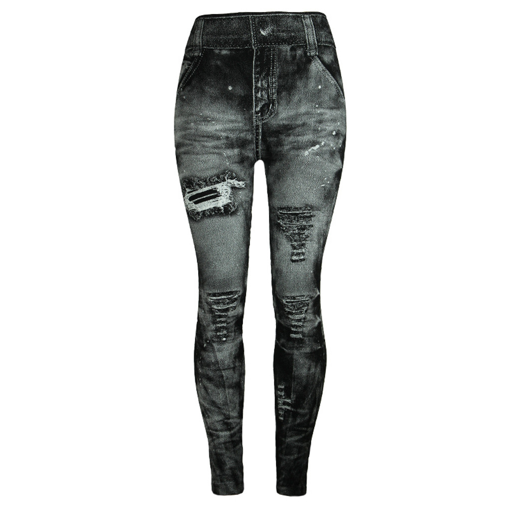 Unique style fashion beautiful and elegant Women Jeans Bottom Pants Coloured Hip-up Super Bomb Slim Nine-minute Gray Pant W30416