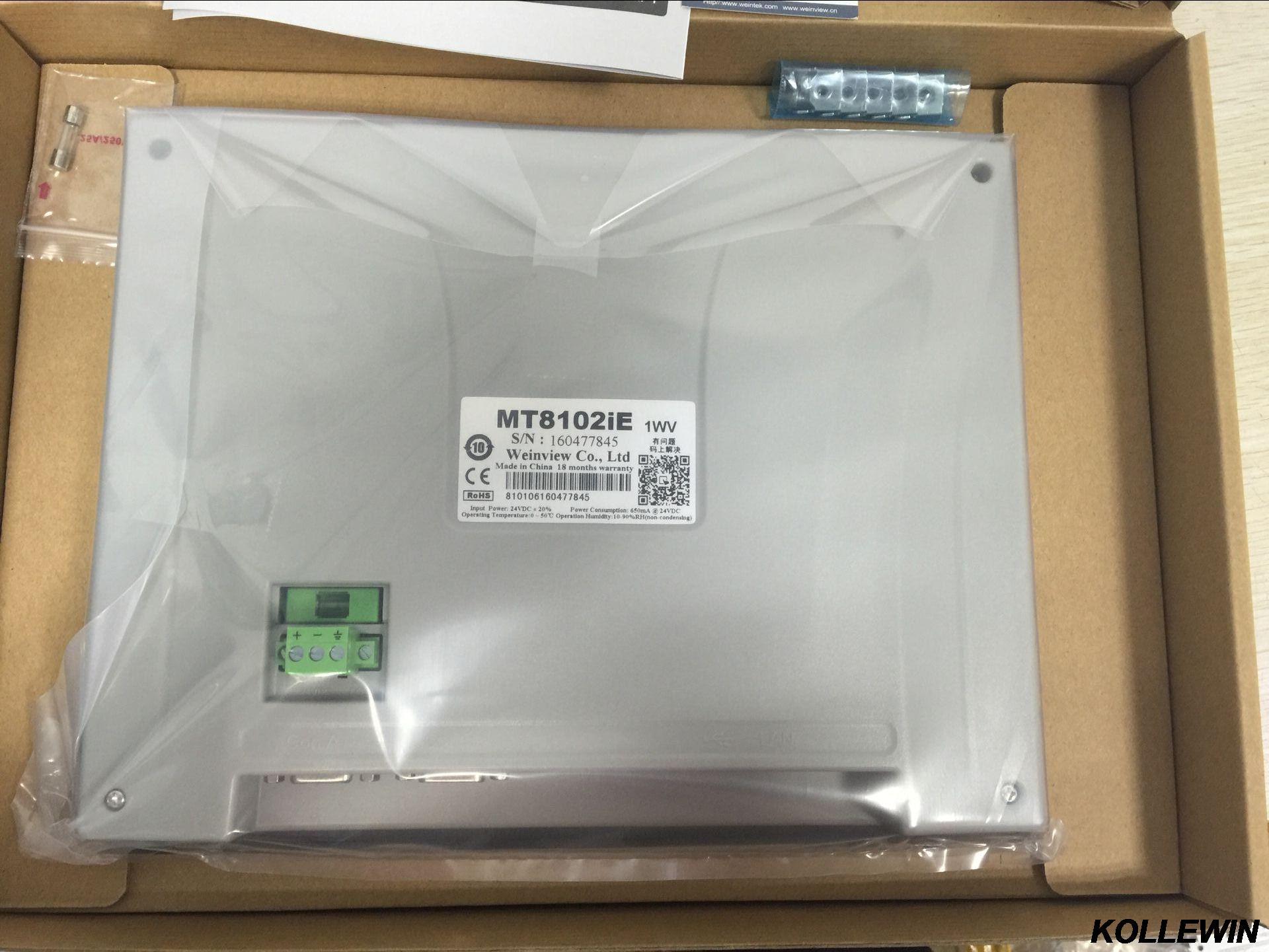 MT8102iE Novo original Weinview Weintek HMI 10.1 polegadas Touch Screen 1024x600 Ethernet substituir MT8101iE MT8100iE 1 ano de garantia