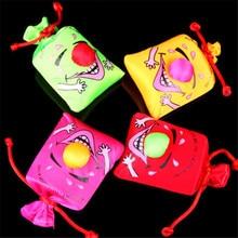 1 сумка детские приколы счастливые игрушки день первокурсников фестивали игрушки Музыка смешной Смех Мешок пинч смех сумки Сумка смех игрушка
