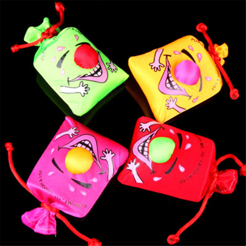 1 Bag Kids Children's Gags Happy Toys April Fools Day Festivals Toys Music Funny Laugh Bag Pinch Laughter Bags Laughing Bag Toy