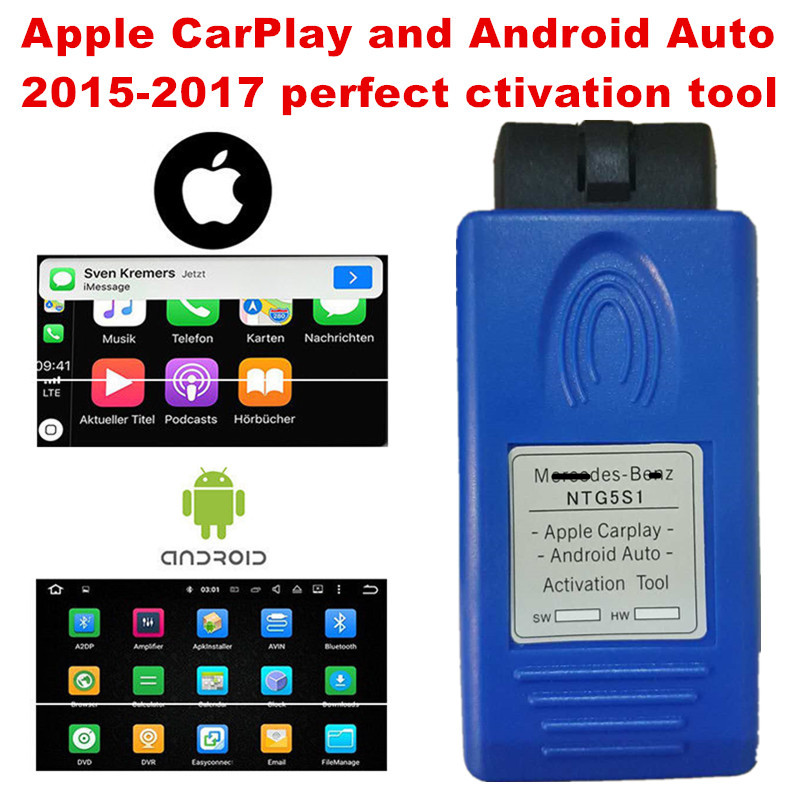 US $45 0 |Newest Unlimited use Apple CarPlay and Android Auto activation  tool for mercedes benz NTG5 S1 Simple and perfect working-in Car Diagnostic