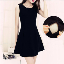 2016 New Lactation Dresses Slim Sexy Sleeveless Dress Feeding Breastfeeding Clothes  Red And Black Two Colors breastfeeding