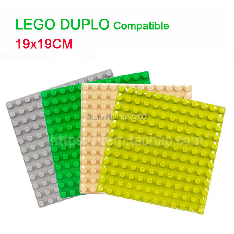 Baby Toys Educational Building Blocks Large Size Bricks Parts 19x19cm Base Plastic Model Kits Base Creative DIY Toys For Kids