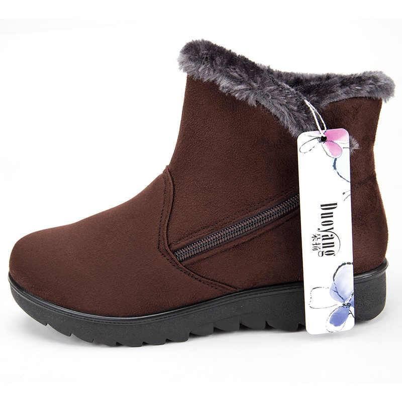 bb9bc58b7 ... Новая женская обувь, зимние сапоги, 2018 Модные женские ботильоны на  молнии, женская обувь