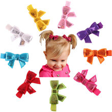 9PC Child Babys Girls Sequins Bowknot Flower Hair Clip Photography dropshipping(China)