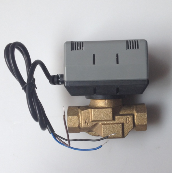 Image 2 - 双方向ハネウェル型電動ボールバルブ真鍮 1 メートルのケーブルで VC4013 DN20 16bar 3/4 ファンコイル電気バルブ AC220V    グループ上の 家のリフォーム からの バルブ の中