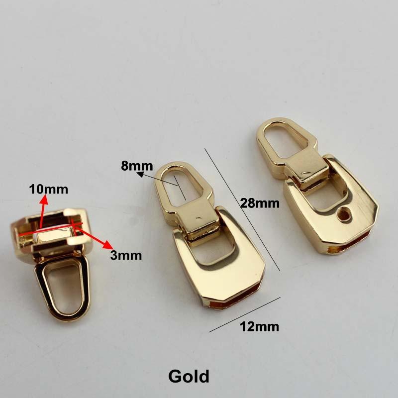 30pcs 3colors handbag purse zipper decoration end clips by screws silver gun black color strap cover clasp accessory cylinder