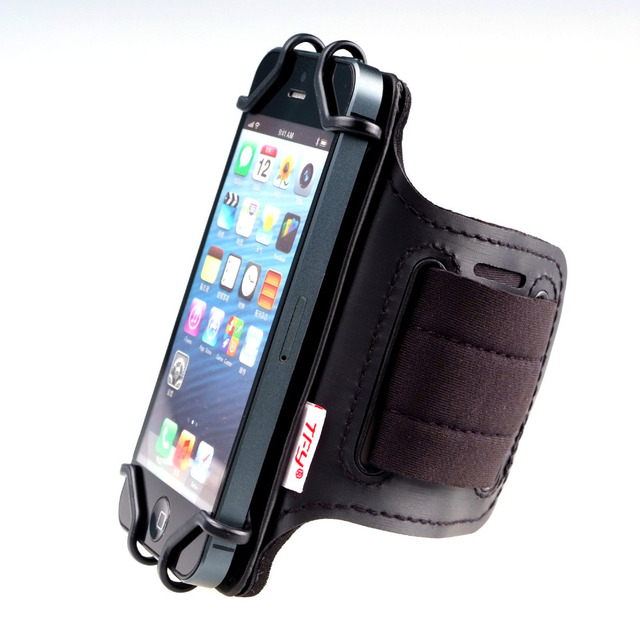 TFY Open Face Sport Armband Wrist Band Holder + Key Holder for over 5.5 Inch Cell Phone for