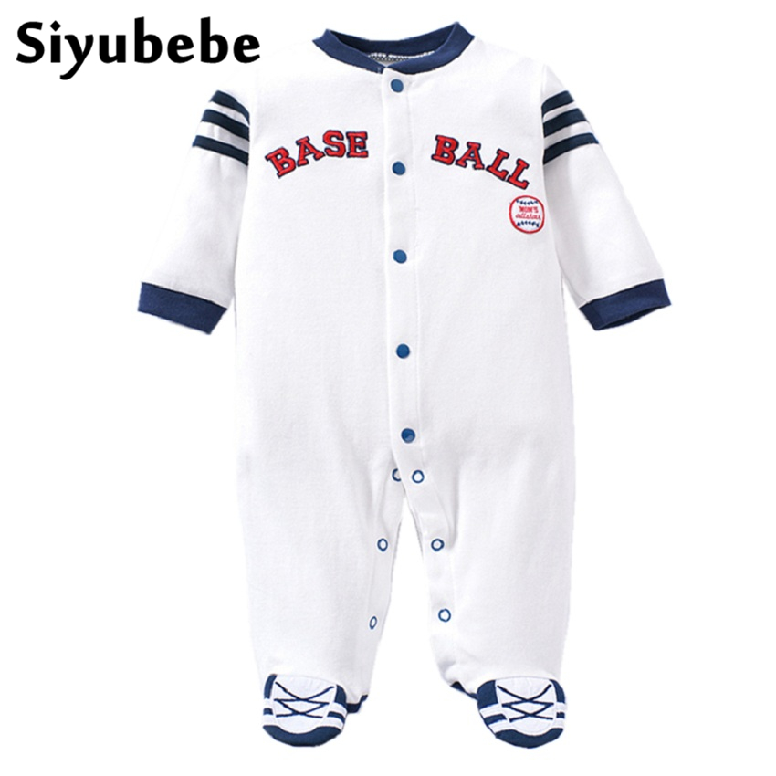 Baby Rompers High Quality Newborn Baby Boy Clothes Cotton Long Sleeve Ropa Bebe Infant Boy Sport Baseball Costume Jumpsuit 0-12M new 2017 brand quality 100% cotton newborn baby boys clothing ropa bebe creepers jumpsuit short sleeve rompers baby boys clothes