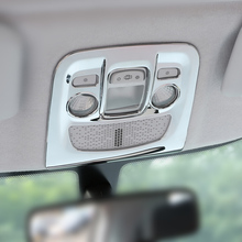 For 2014-2017 Peugeot 2008 Accessories ABS Chrome Car Front Rear Reading Light Lamp Control Button Frame Panel Cover Trim
