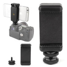 "2018 NEW Arrival 1/4"" Flash Hot Shoe Screw Adapter Tripod Mount Phone Clip Holder For DSLR Camera(China)"