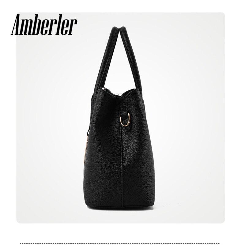 Amberler Women Handbag Luxury Handbags Women Bags Designer PU Leather Bag For Ladies Hand Bag Big Casual Tote Shoulder Set Bag 4
