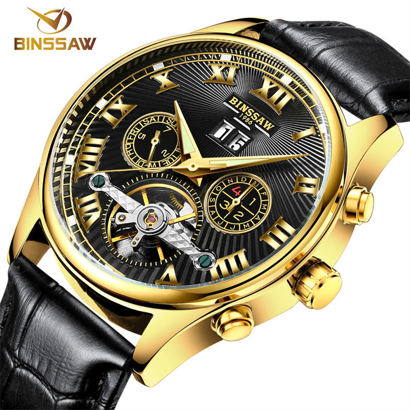 2016 font b Watches b font Men Luxury Top Brand Binssaw Mechanical font b Watch b