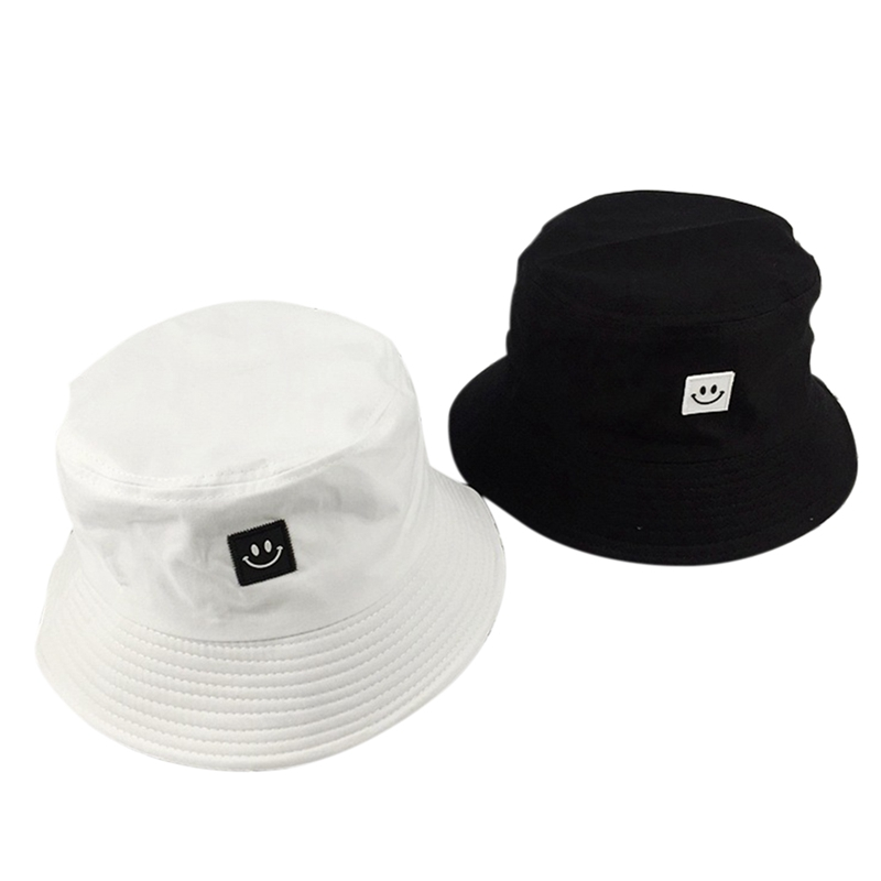 2019 Unisex Couple Casual Wild Simple Sunhat Smiley Doll Hat Sunscreen Outdoor Cap Black White
