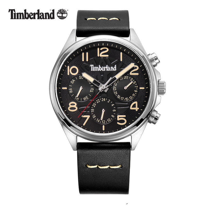 Timberland Mens Watches  Leather Multifunction Display Calendar Casual Quartz Waterproof Men Watch T14844 1