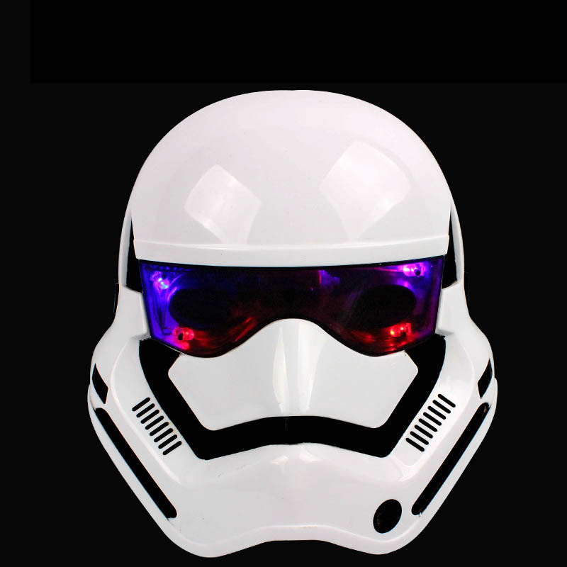 Anakin Skywalker Star Wars Chewbacca Stormtrooper Weiß Helm Schwarz Gleamy Krieger Soldat Lichtschwert Halloween Maske