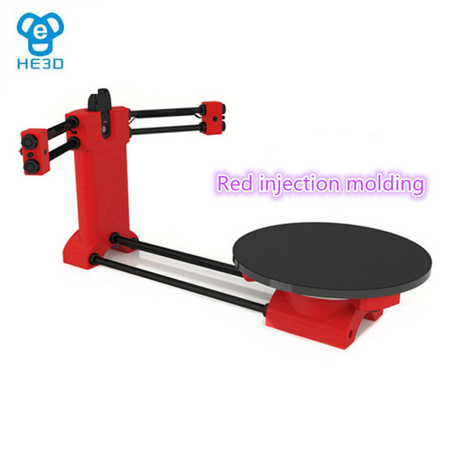 HE3D open source DIY 3d scanner kit new arrival red injection molding plastics