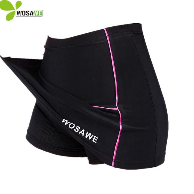 6150c53be00455 WOSAWE Gel short de cyclisme femme rembourré vêtement de sport jupe vtt  vélo de descente vêtements de vélo Mini jupe short