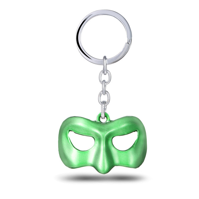 MS JEWELS Hot Movie Green Lantern Mask Key Chain Alloy Enime Key Rings For Gifts and Present