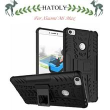 Hatoly чехол для телефона Сяо Mi Max чехол противоударный силикона и пластиковая крышка для сяо Mi Max случае Сяо Mi Max Kickstand принципиально