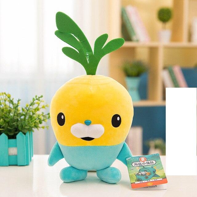 25cm Octonauts Plush Toys Captain Barnacles Kwazii Peso Shellington Dashi Stuffed Toys Dolls Action Figure Soft Kids Toy Gifts