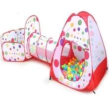 3 в 1 портативный детский манеж для детей, Детский мяч, складной бассейн, всплывающая игровая палатка, туннель, игровой домик, хижина, домашние, уличные игрушки, Fancing