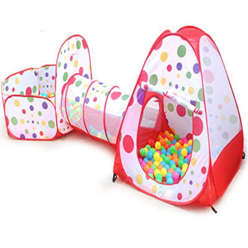 3 In 1 Portable Baby Playpen Children Kids Ball Pool Foldable Pop Up Play Tent Tunnel Play House Hut Indoor Outdoor Toys Fancing