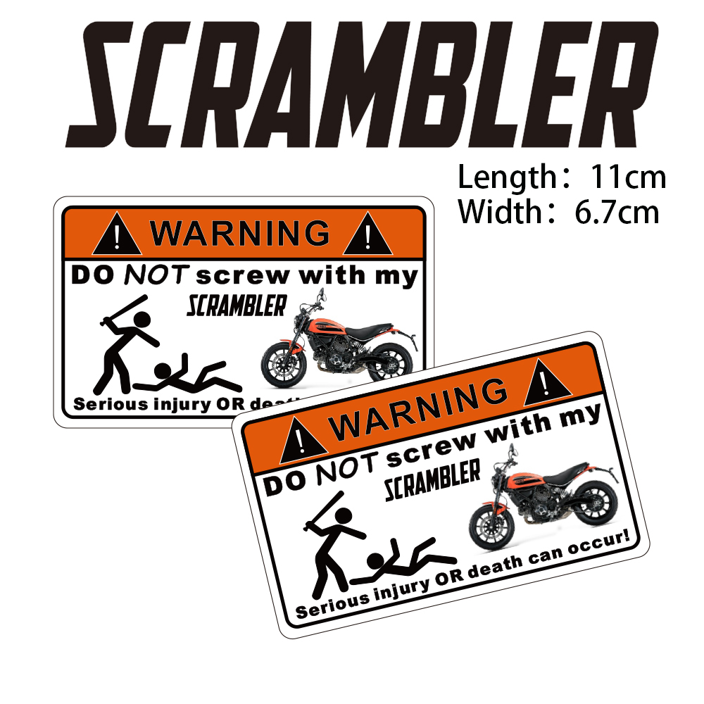 Kodaskin Motorcycle Cheap 2d Creative Warning Sticker Decal