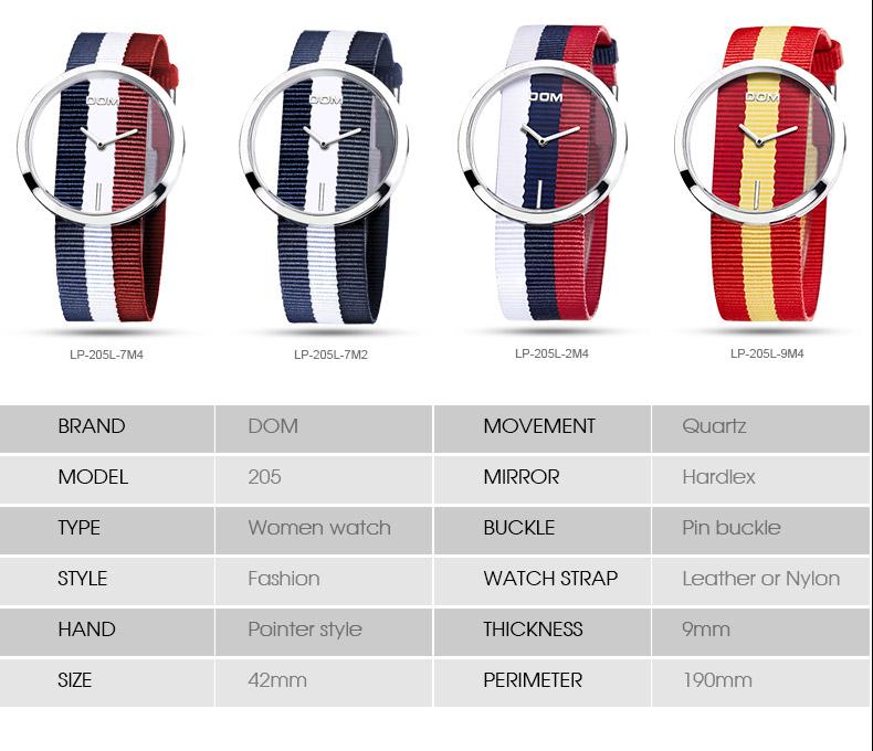 DOM: Reloj de pulsera de lujo para mujer 13