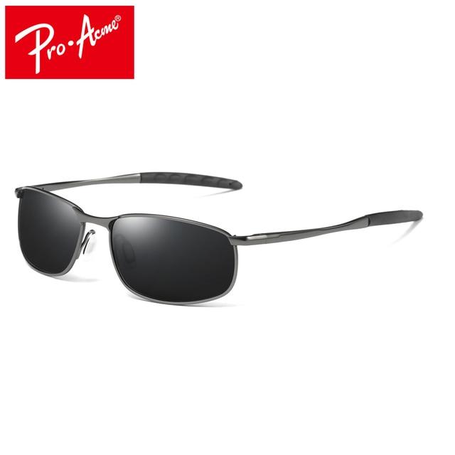 e4617b87db Pro Acme marca diseñador hombres HD polarizadas gafas de sol rectángulo  gafas de sol hombre conducción